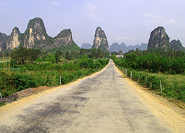 A Yangshuo road in China