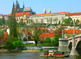 Prague river and castle